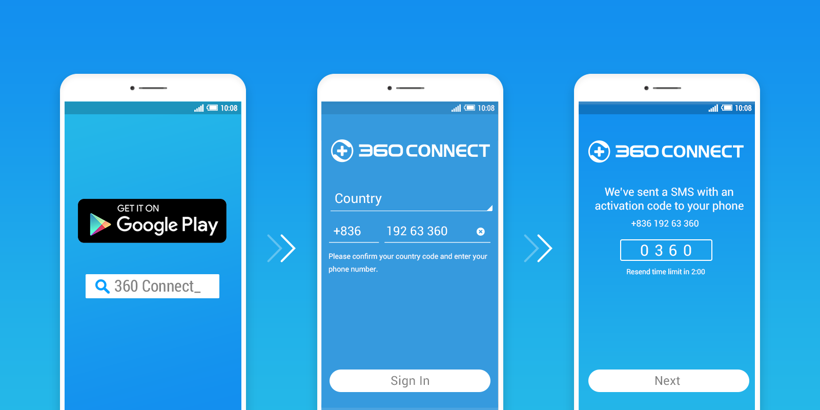 Register360 Connect app