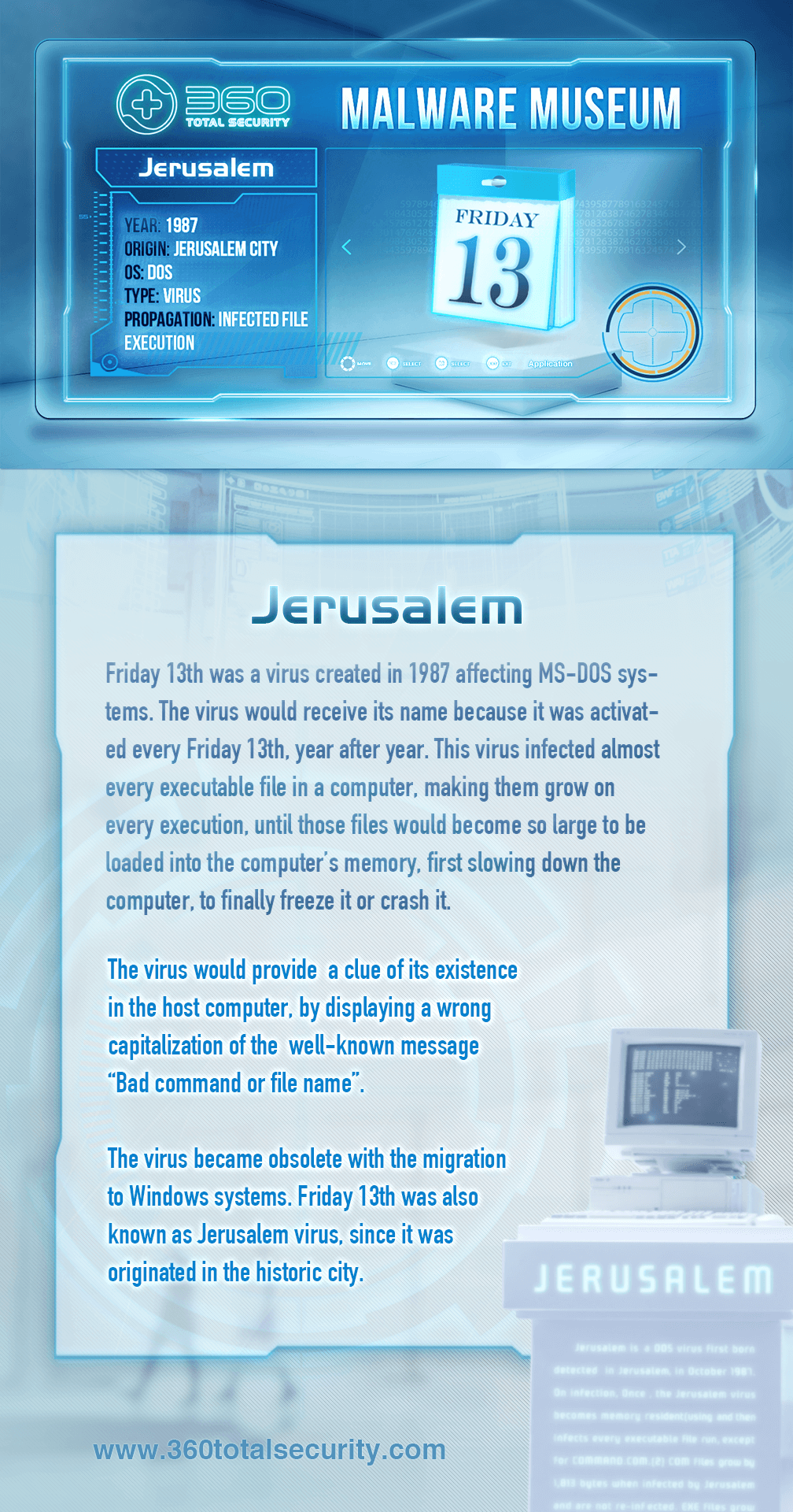 Jerusalem - The virus created on Friday, 13th