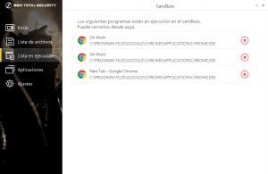 Programas aislados en Sandbox