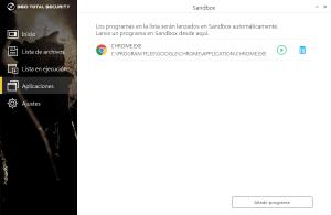 Aplicaciones en Sandbox