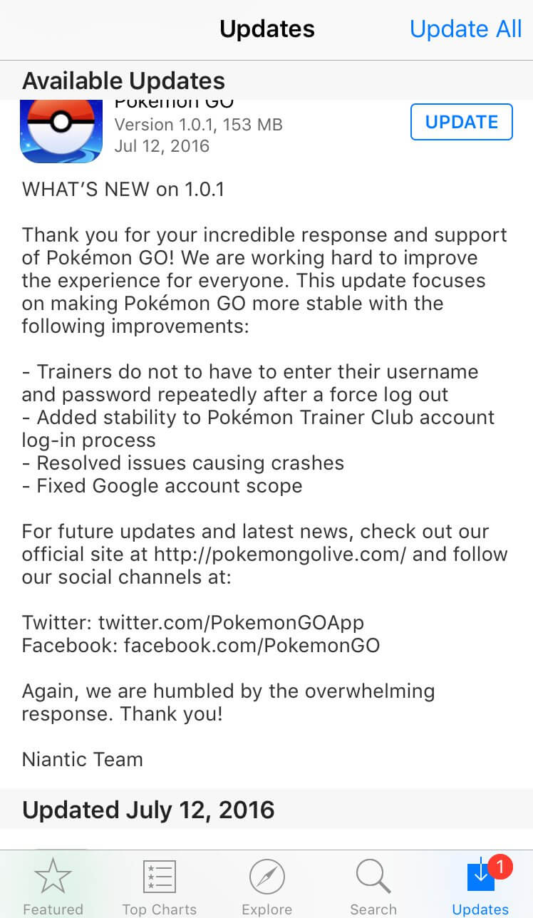 Niantic released an update to fix the security issue