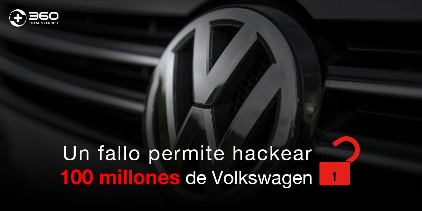 Un fallo permite hackear 100 millones de Volkswagen