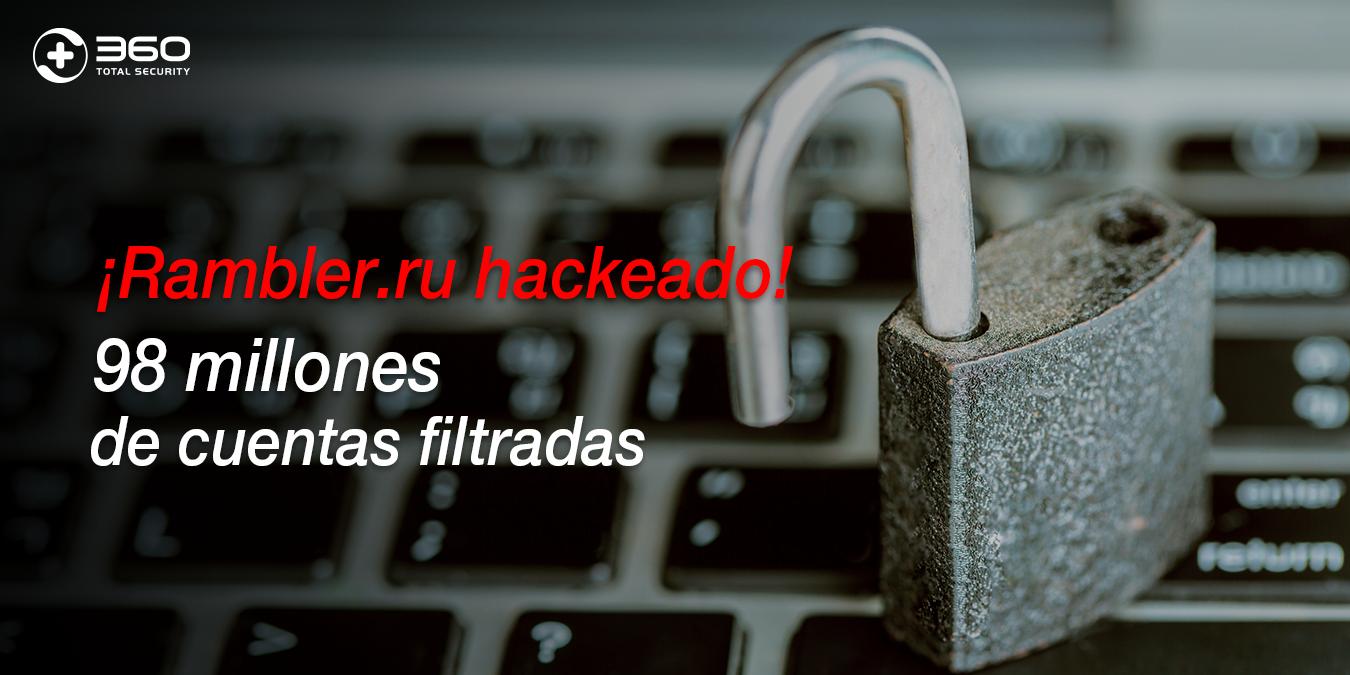 Rambler.ru ha sido hackeado y 98 millones de cuentas filtradas