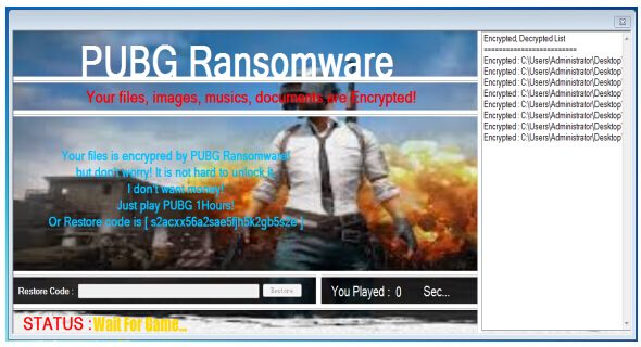 PUBG Ransomware demands victims to play game for decryption | 360