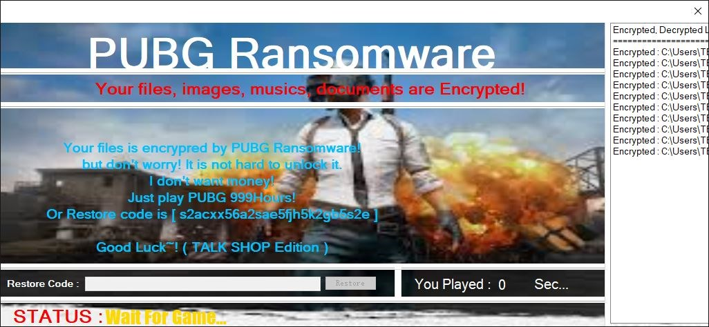 PUBG gamers should be careful: The latest PUBG ransomware forces users to play the game for 999 HOURS!