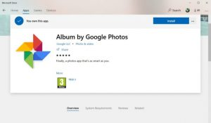 Fake application disguised itself as Google Photos in Microsoft Store