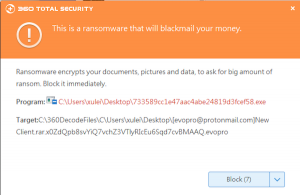 Blocked by 360 Total Security