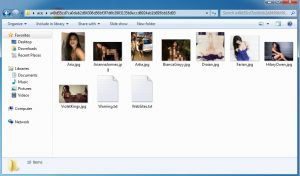 Image files after decompression