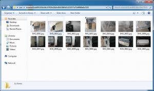 Распакованные файлы изображений: