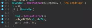 Parameter -i SM-zzbdrimp -s