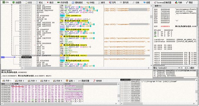 Вирус создает поток для отправки пароля учетной записи