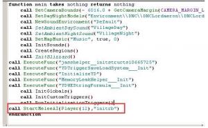 Вирус вставляет фрагмент кода в скрипт карты war3map.j, чтобы запустить вредоносный модуль